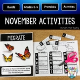 Treasure Each Month: November Activities Veterans, Wolves, Turkeys, Thanksgiving