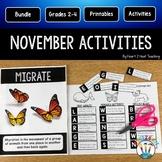 November Activities Bundle: Veterans, Wolves, Turkeys & Thanksgiving