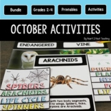 October Activities Bundle: Columbus, Owls, Pumpkins, Bats & Spiders