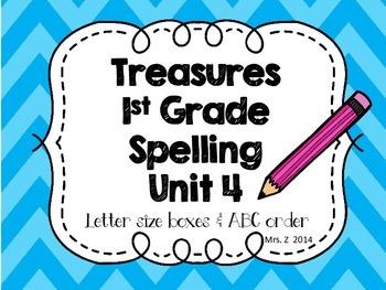 Treasure First Grade Spelling - Unit 4