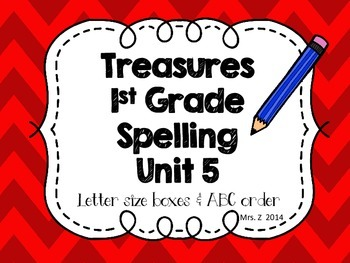 Treasure First Grade Spelling - Unit 5