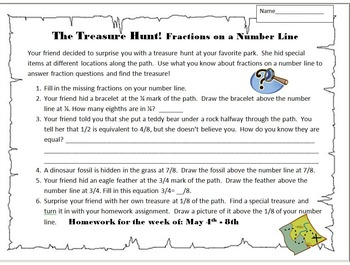 Treasure Hunt! A Fractions on a Number Line Performance Task
