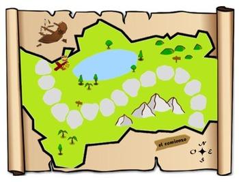 Treasure Hunt Board Game: Review of Regular Spanish Verbs