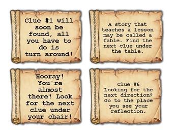 Treasure Hunt Clue Cards