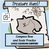 Compass Rose and Map Scale Treasure Hunt Activity / Distan