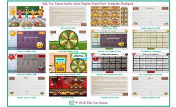 Kooky Class English PowerPoint Game Template-An Original by ESL Fun Games