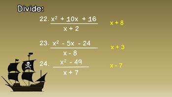 Treasure Hunt Game Algebra Monomials Polynomials Add Subtract