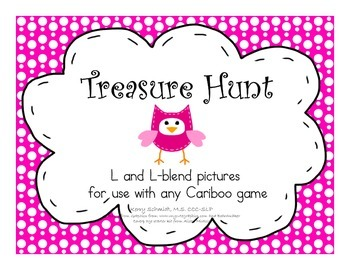 Treasure Hunt Game for Articulation - L and L-Blends