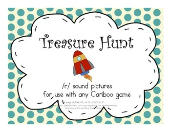 Treasure Hunt Game for Articulation - R sounds