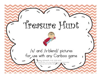 Treasure Hunt Game for Articulation - S and S-Blends