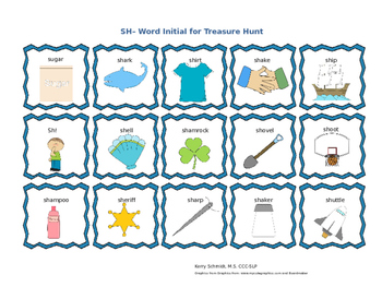 Treasure Hunt Game for Articulation - SH