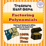 Treasure Hunt Interactive Game Algebra Factoring Polynomials Review