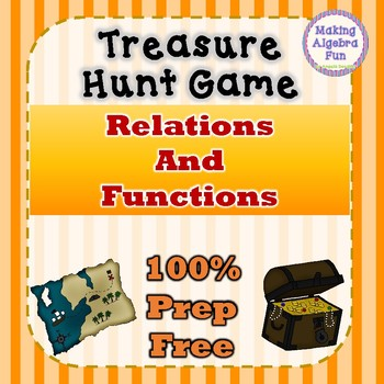 Treasure Hunt Interactive Game Algebra Relations and Functions