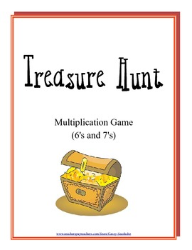 Treasure Hunt: Math Multiplication Board Game (Multiply with 6's and 7's)