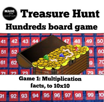 Treasure Hunt - MULTIPLICATION facts and number knowledge game