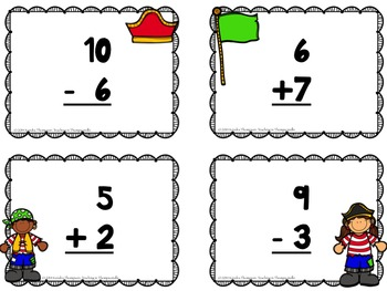 Treasure Hunt: Patterns/Addition/Subtraction {Search the Room}