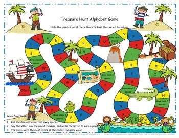 Treasure Hunt Upper and Lowercase Letter Identification Game (RF.K.1d)