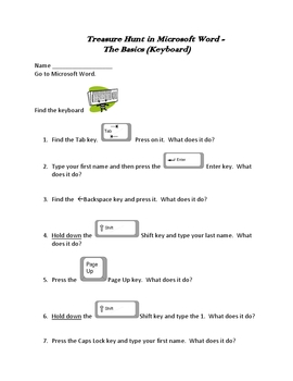 Treasure Hunt in Microsoft Word - the Basics (Easy)