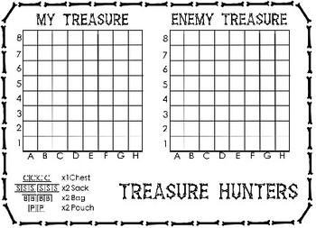 Treasure Hunters Battleships Position Game