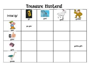 Treasure Hunters:  Initial /k/ and /g/