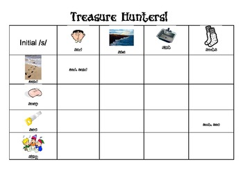 Treasure Hunters:  Initial /r/, /s/, /l/