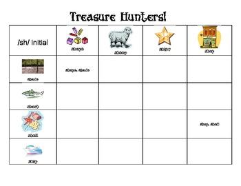 Treasure Hunters:  Initial /sh/ and mixed /th/