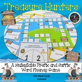 Treasure Hunters Multisyllabic Game Prefix and Suffix Word Fluency