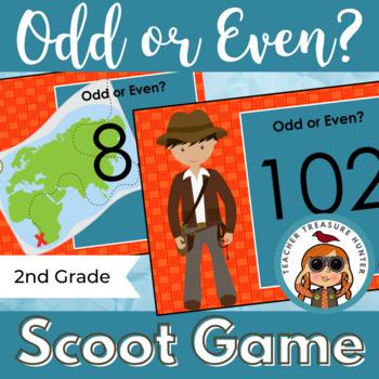 Treasure Hunters Scoot Game ~ Math ~ Odd or Even?