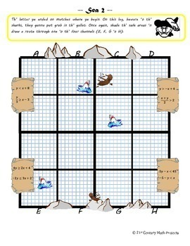 Treasure Hunters: System of Equations & Inequalities Pirate Project