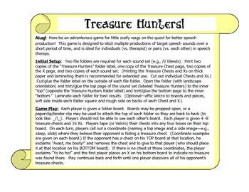 Treasure Hunters:  /s/ blends, /l/ blends, vocalic /r/
