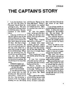 Treasure Island 10 Chapter Novel, Student Activities, Answer Keys