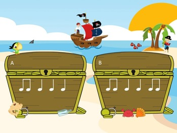 Treasure Island - A Fly Swatting Game to Practice Ta and Ti-Ti