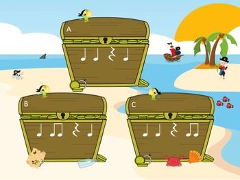 Treasure Island - A Fly Swatting Rhythm Game to Practice Ta, Ti-Ti and Z
