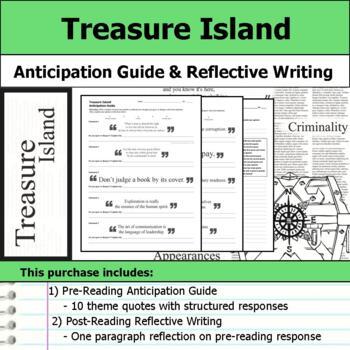 Treasure Island - Anticipation Guide & Reflection Writing
