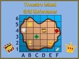 Map Skills Using A Grid - Treasure Island Theme.