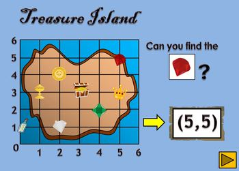 Coordinate Graphing - Treasure Island