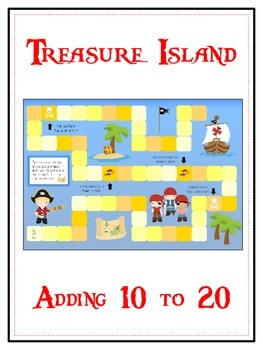 Treasure Island Math Folder Game - Common Core - Adding 10 to 20