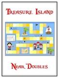 Treasure Island Math Folder Game - Common Core - Adding Near Doubles