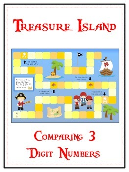 Treasure Island Math Folder Game - Common Core - Comparing 3 Digit Numbers