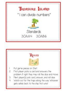 Treasure Island Math Folder Game - Common Core - Division - Dividing Numbers