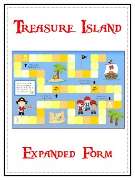 Treasure Island Math Folder Game - Common Core - Expanded Form