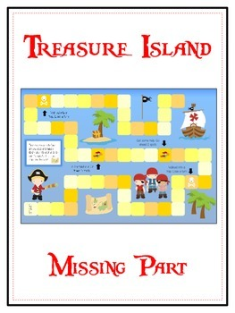 Treasure Island Math Folder Game - Common Core - Finding the Missing Part
