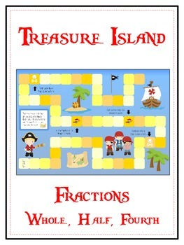 Treasure Island Math Folder Game - Common Core - Fractions