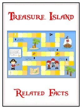 Treasure Island Math Folder Game - Common Core - Related Facts