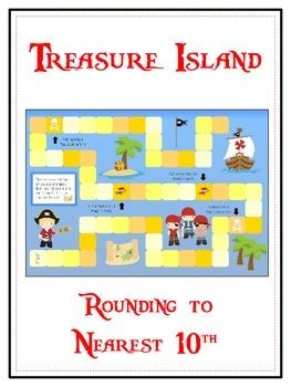 Treasure Island Math Folder Game - Common Core - Rounding to Nearest 10th