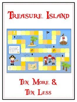 Treasure Island Math Folder Game - Common Core - Ten More
