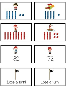 Treasure Island Math Folder Game - Common Core - Tens and Ones - Place Value