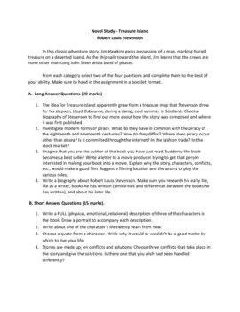 Treasure Island Novel Study