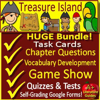 Treasure Island Novel Study Quiz and Test Bundle