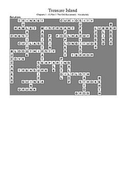 Treasure Island Part 1 - Vocabulary Crossword Puzzle